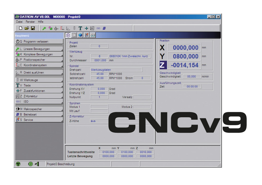 Control software cam datron Simple cad software