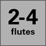 Two to Four Flutes