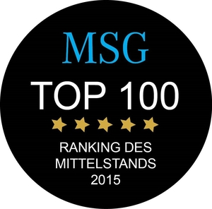"DATRON wears the seal ""MSG Top 100"""